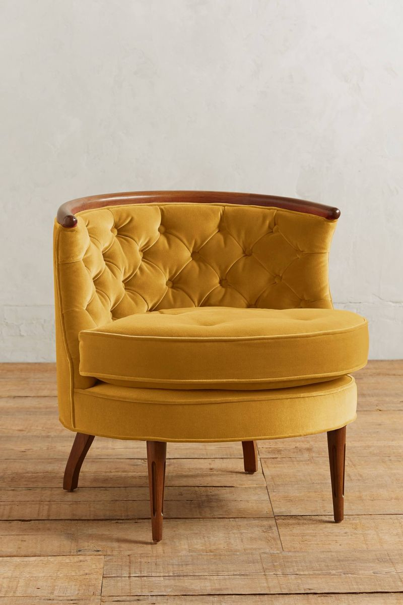 Velvet Tufted Armchair