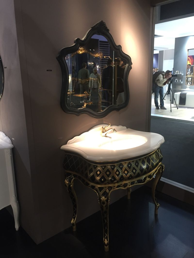 victorian bathroom vanity in black and gold - Luxurious Bathroom Vanity