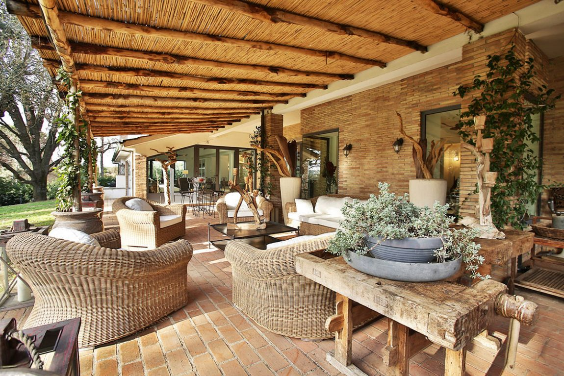Villa outdoor space living design in Italy