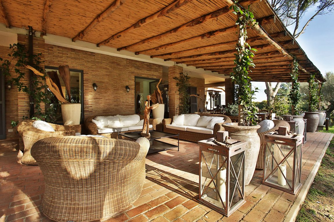 Villa outdoor space living in Olgiata, Italy