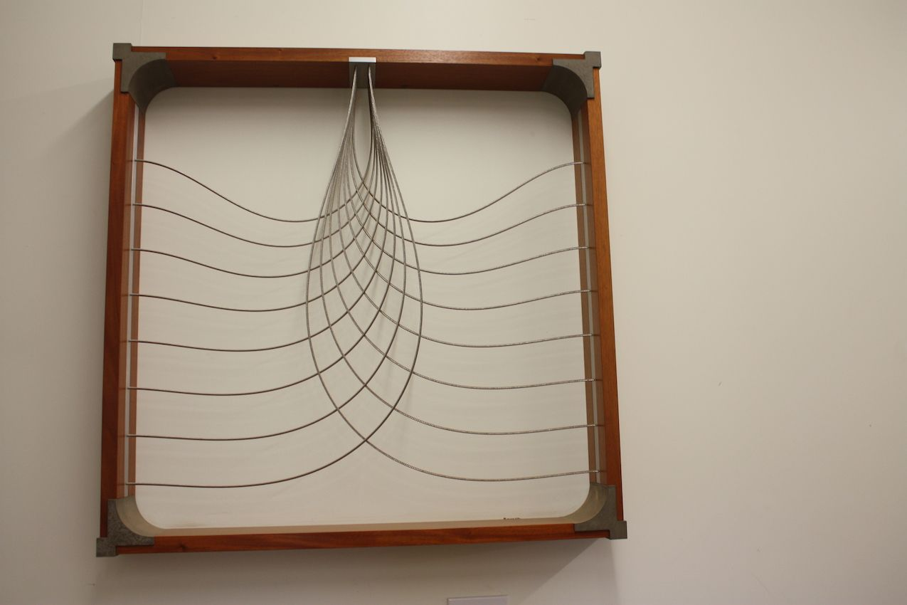 Harrison has also created several wall hangings using the cable design, along with engineered concrete corners.