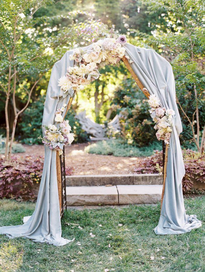Whimsical wedding arch