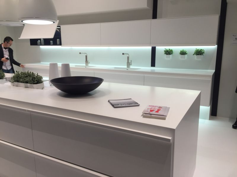 White kitchen design from composit