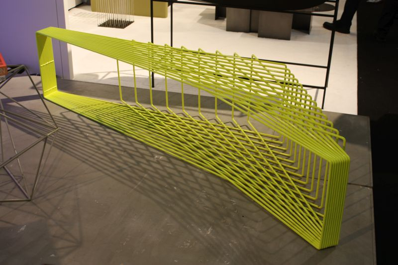 Wire chartreuse outdoor furniture