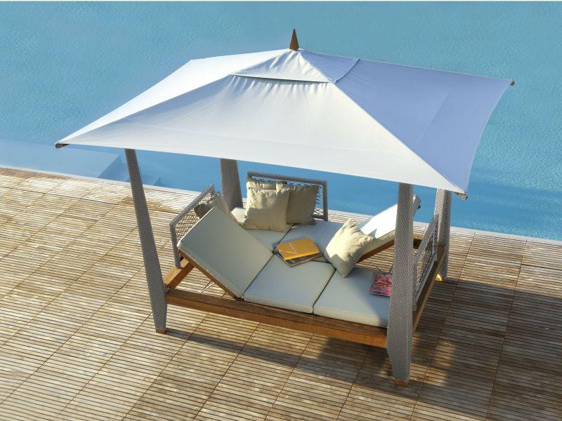 Zayo double recliner canopy