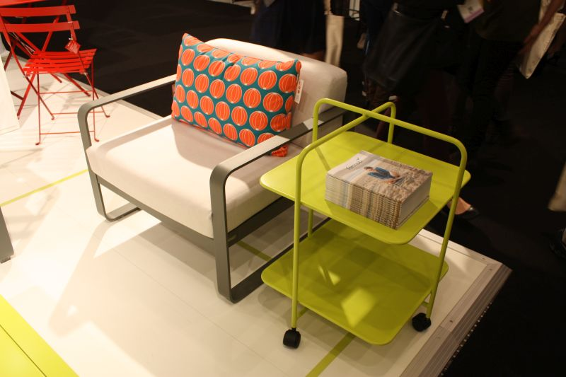 chair side cart in chartreuse