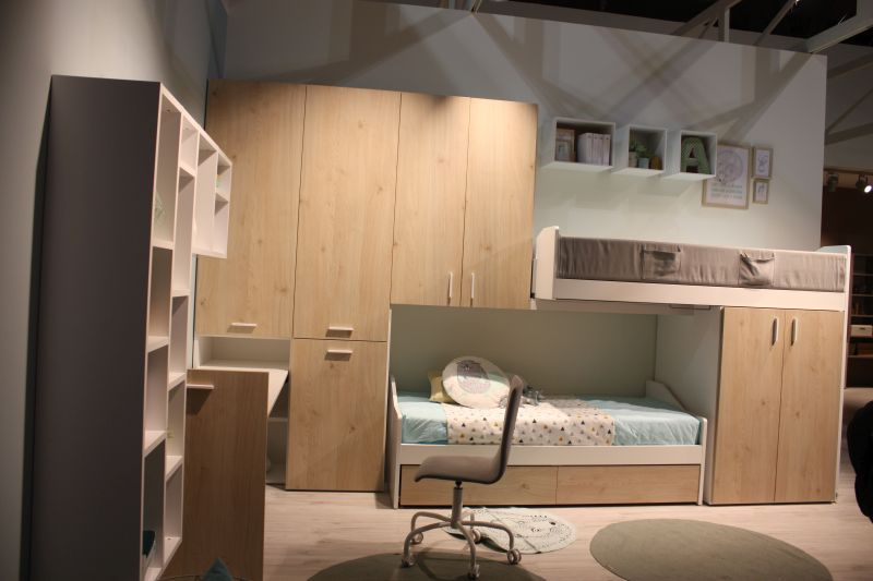 kids room with built in furniture