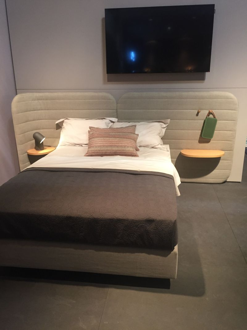 modern asymmetrical design for headboard