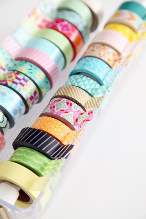Acrylic washi tape organizer