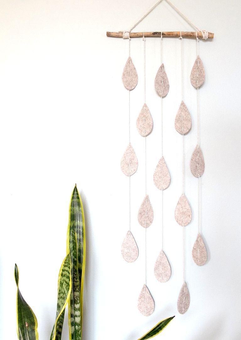 Adorable Raindrop Wall Hanging Craft
