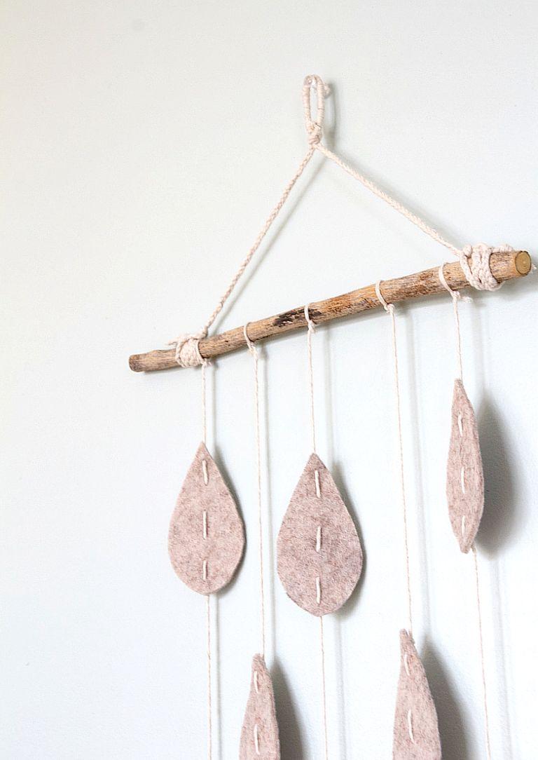 Adorable Raindrop Wall Hanging Driftwood