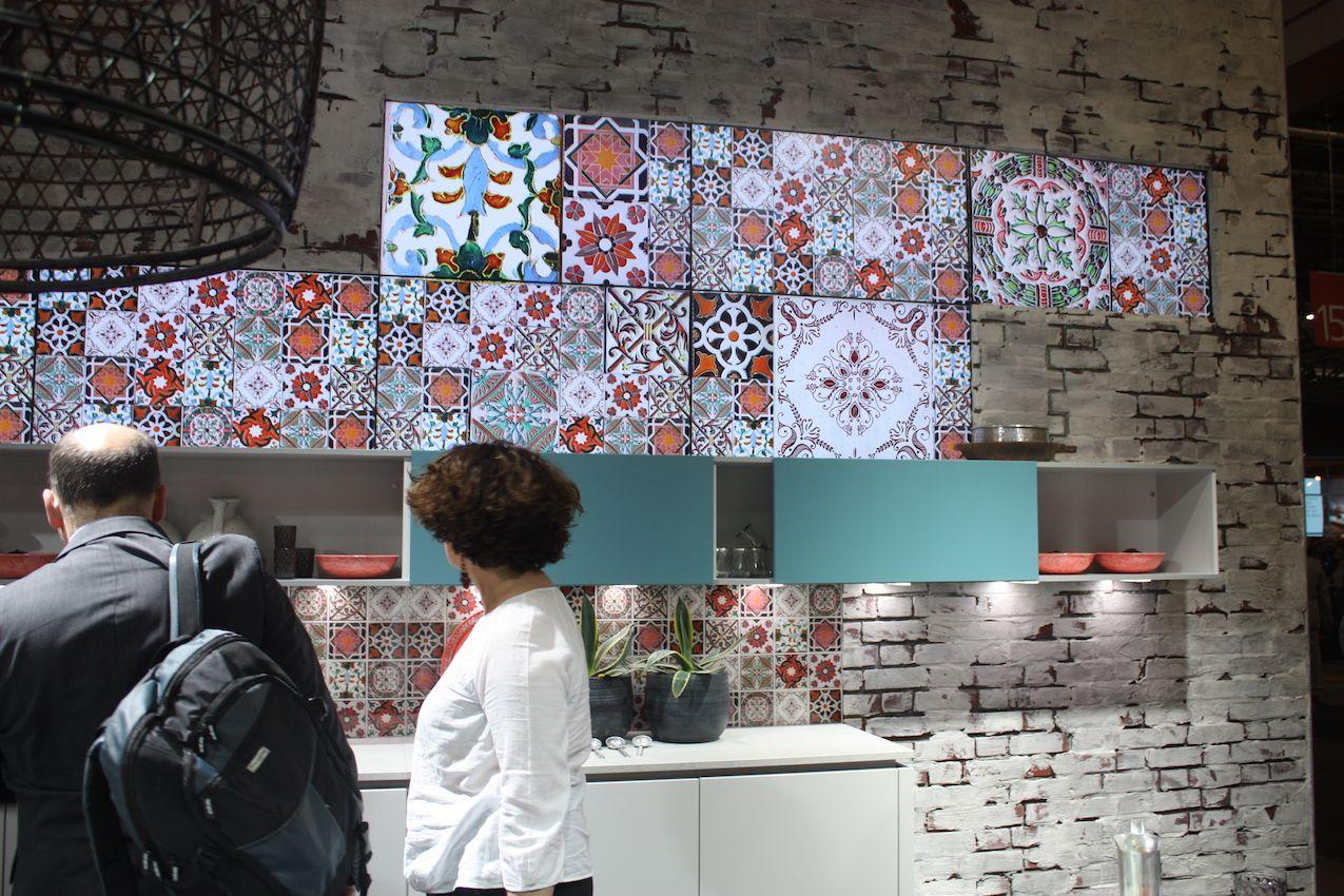 Alno tile backsplash at Salone del Mobile 2016.