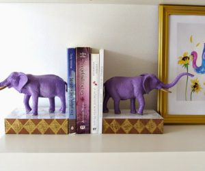 ... Display Your Books In Style U2013 Quirky DIY Bookends