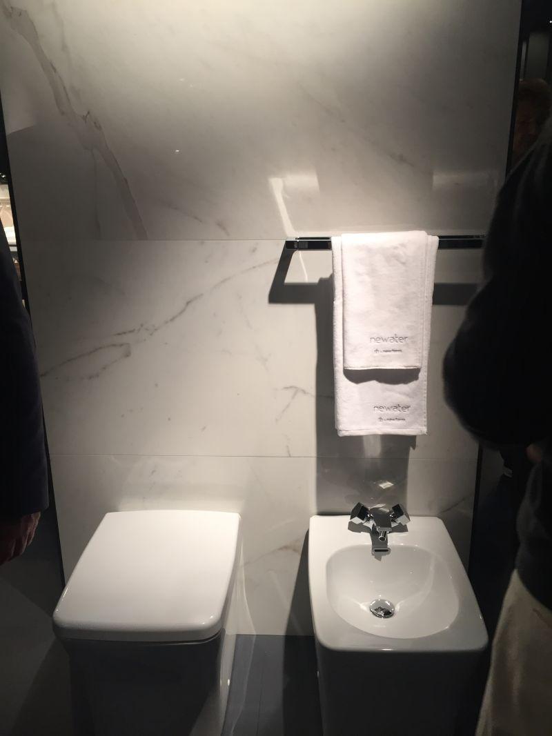 Bathroom carrera marble wall