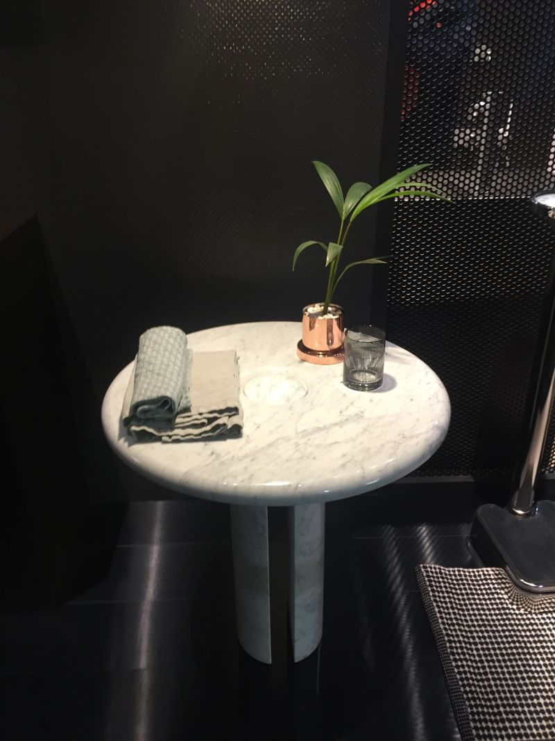 Black and white design - small marble table