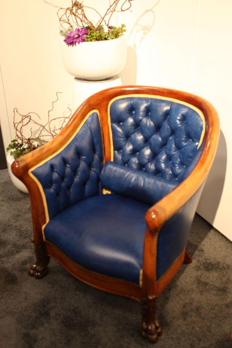 Blue Tufted Armchair