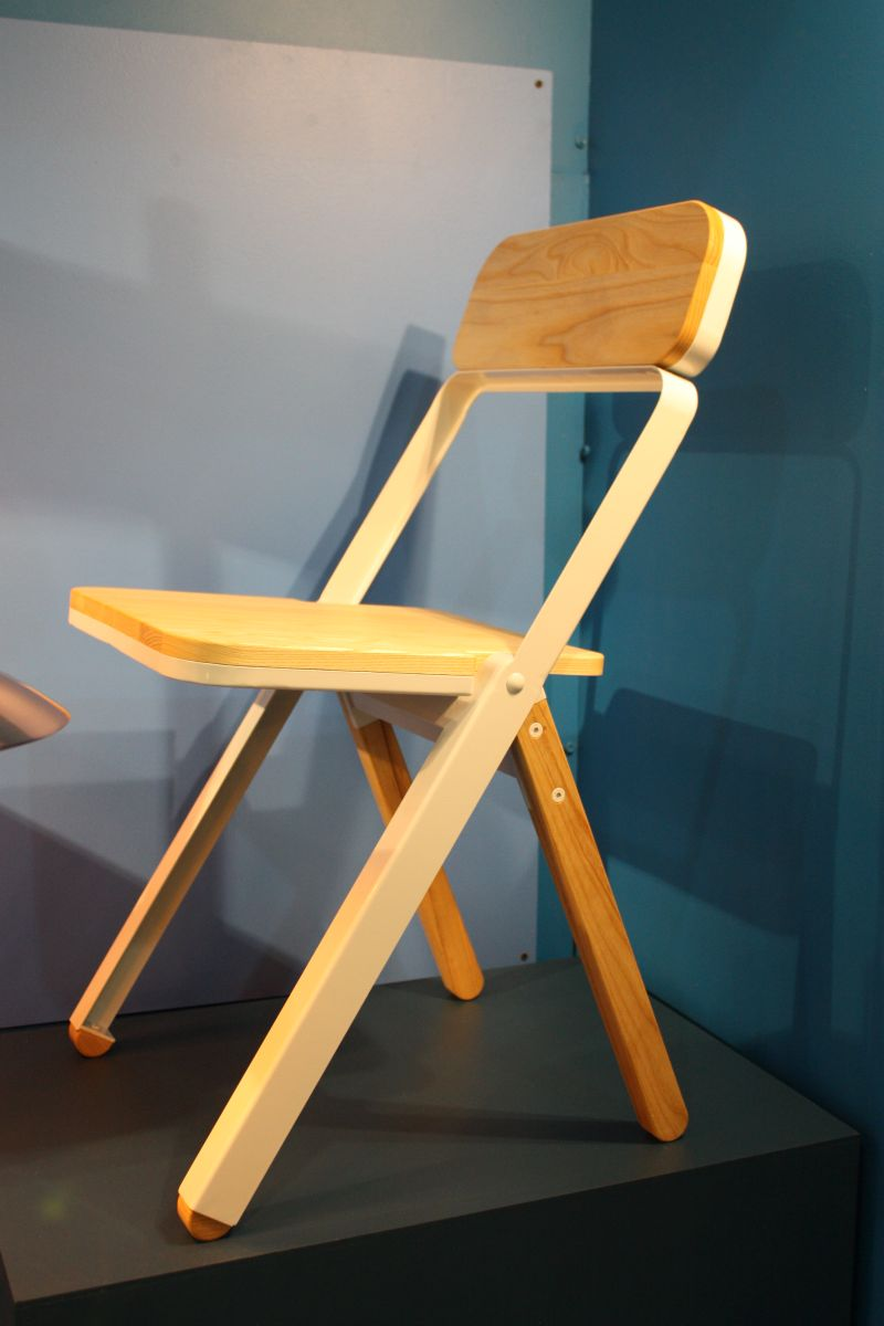 Blue background for chair display