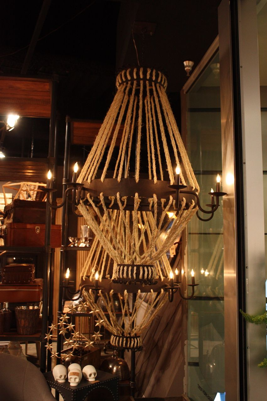 Bobo rustic rope pendants