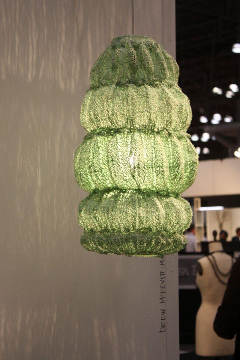 Bohemian style lampshade hanging