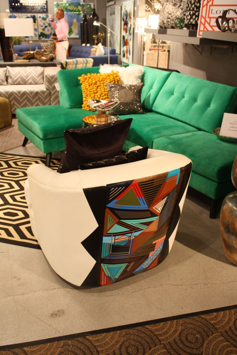 Bold tribal patterns for furniture
