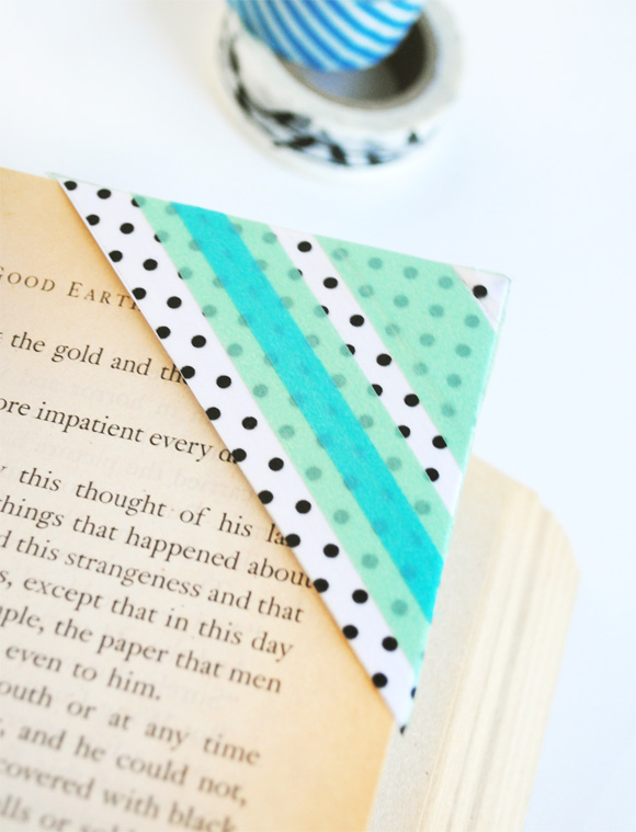 Bookmarks washi tape