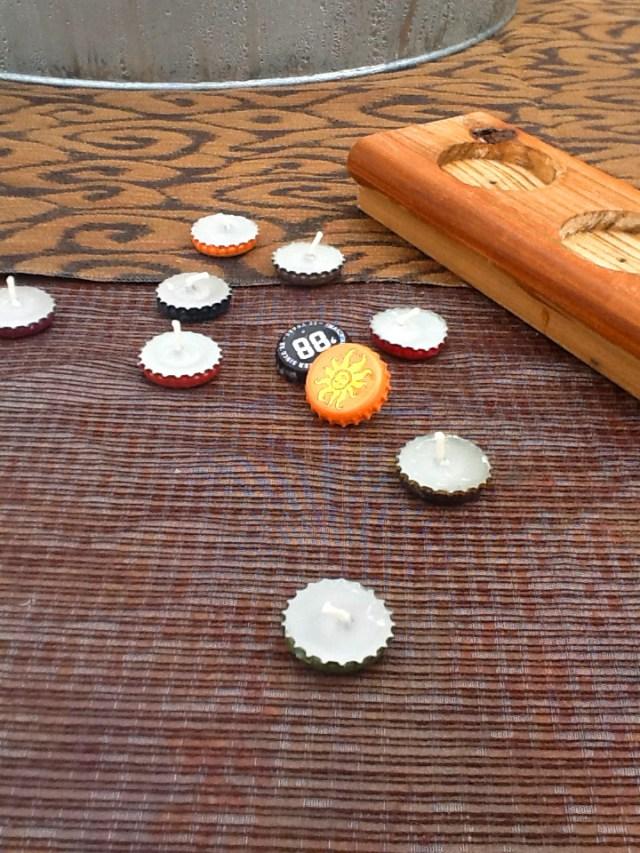 Bottle caps tea lights