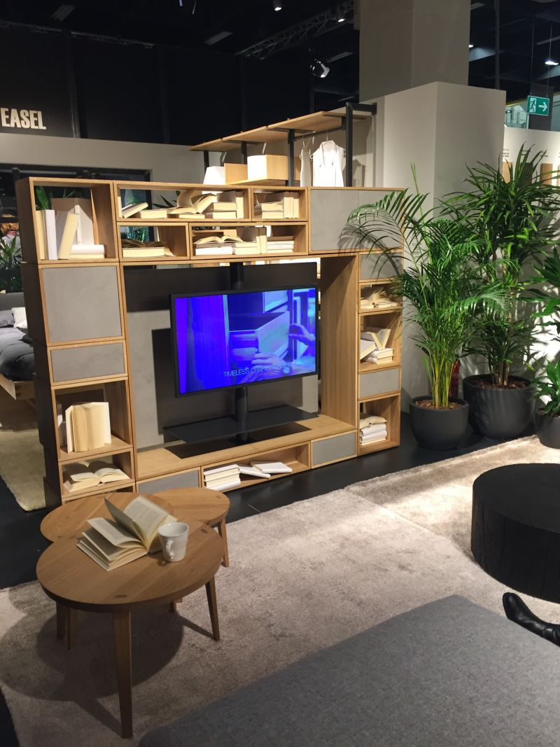Boxed swivel TV furniture