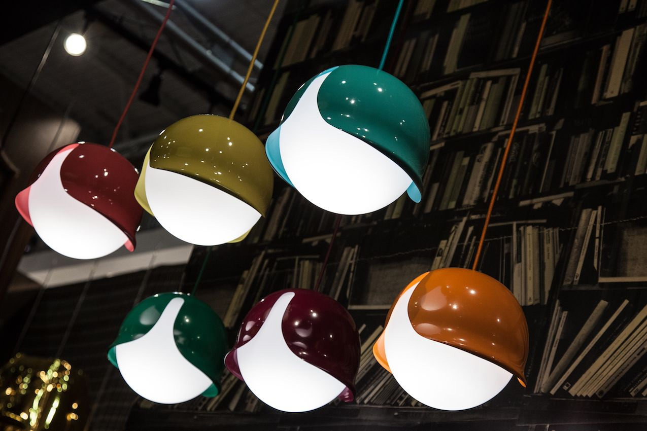 Bright colorful Capelini pendants