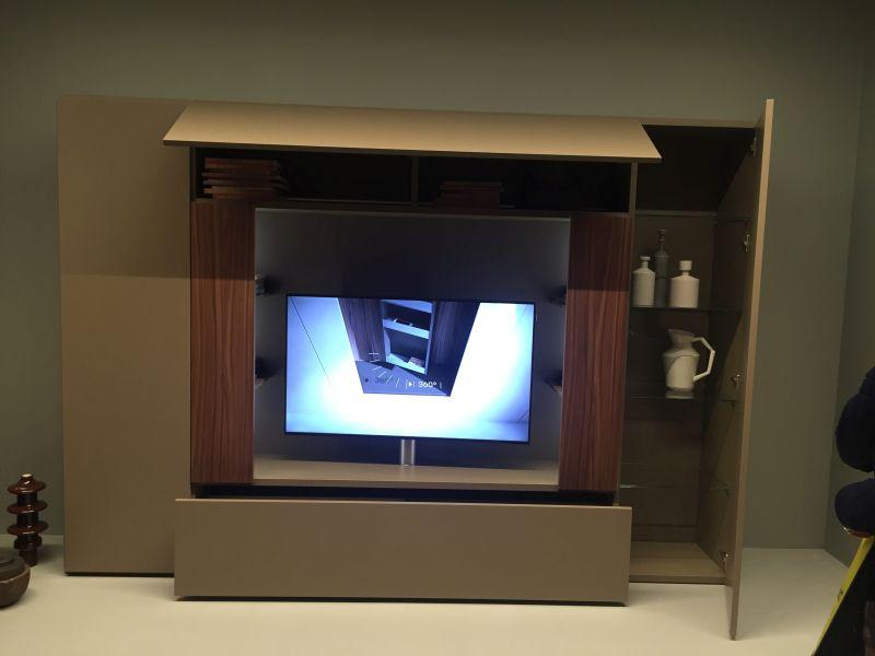 Built in swivel TV
