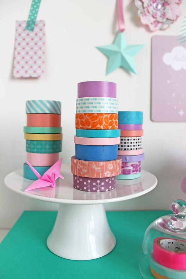 Cake stand washi tape