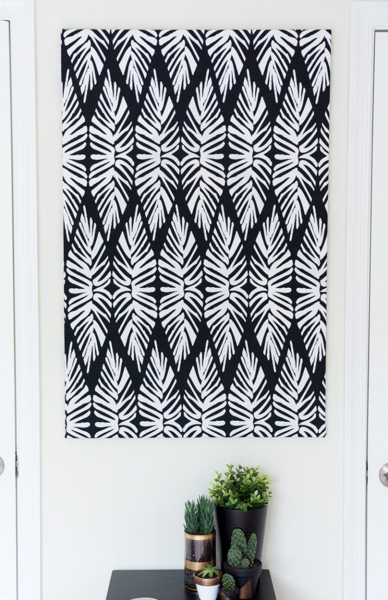 Canvas Art Using Fabric Hang on Wall