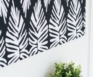 DIY Canvas Art Using Fabric