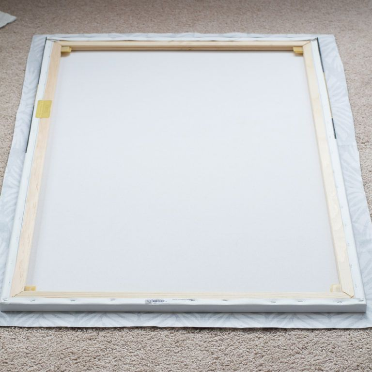 Canvas Art Using Fabric - frame