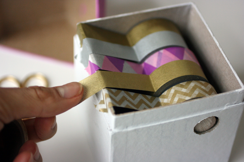 Cardboard washi tape box