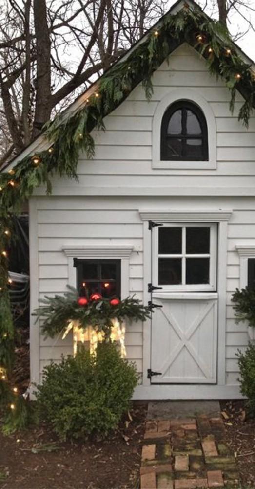 Christmas shed decor