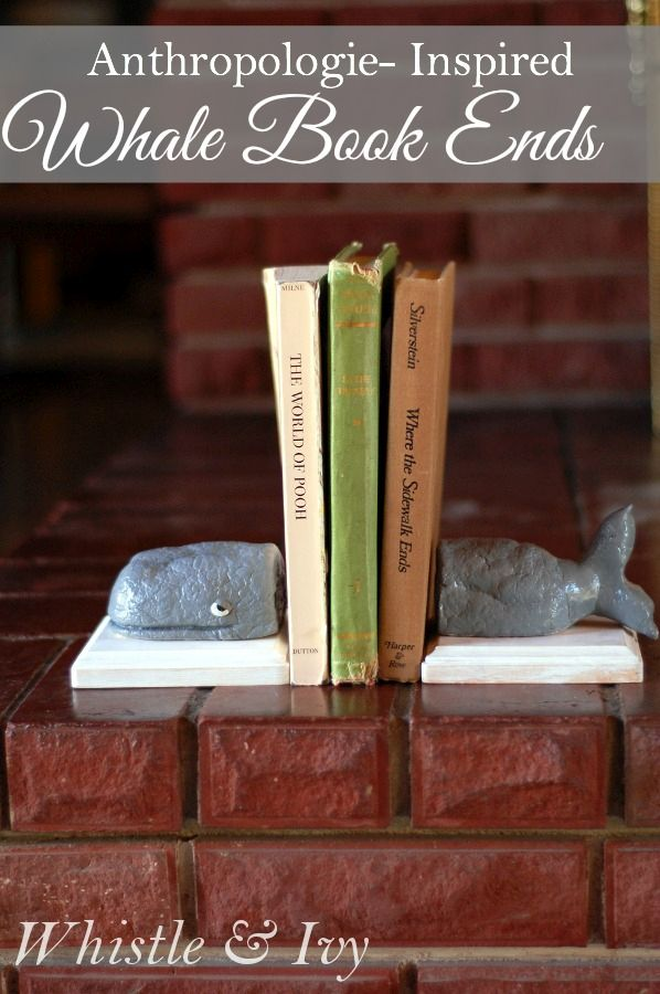 Clay wale bookends
