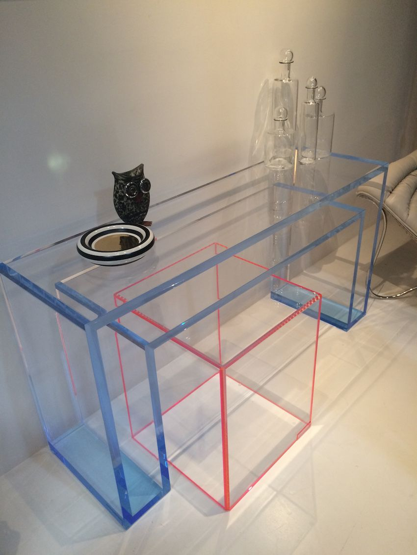 Clear Acrylic tables