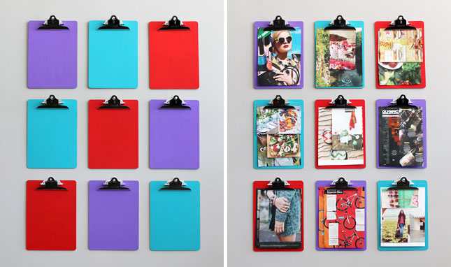 Clipboard hanging pictures