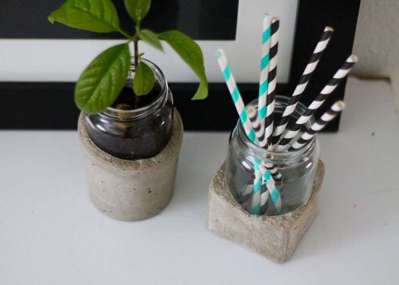 Concrete mason jars Hack