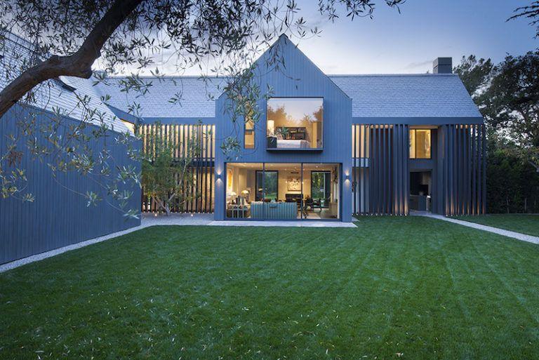 Contemporary Farmhouse Retreat - lawn and garden