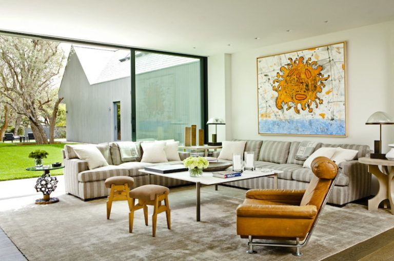 Contemporary Farmhouse Retreat - lounge living room