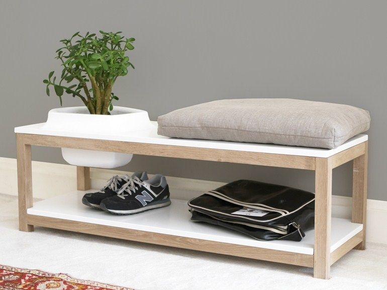 Contemporary banquette with planter