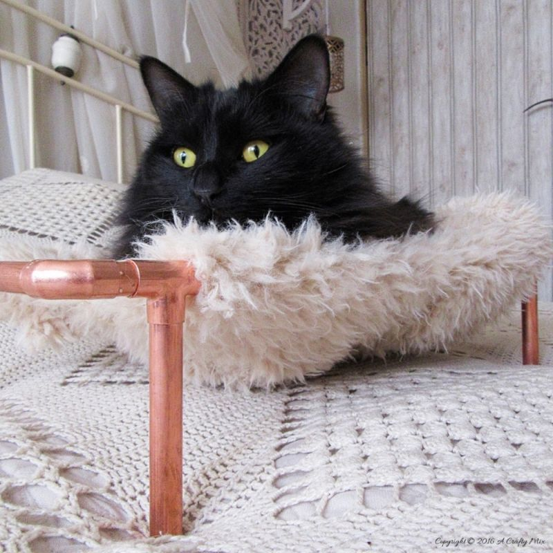 Copper cat bed
