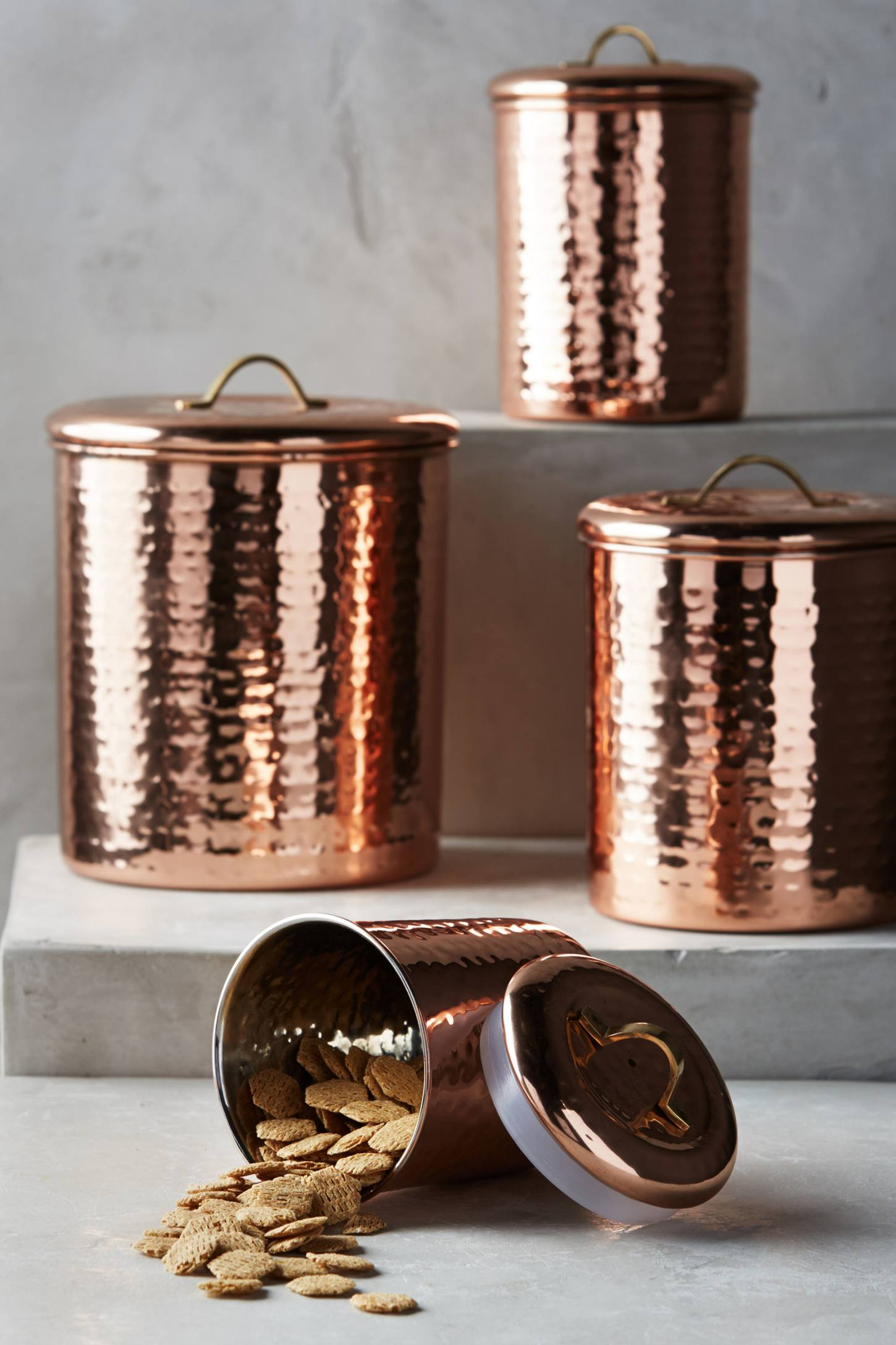 Copper storage canisters