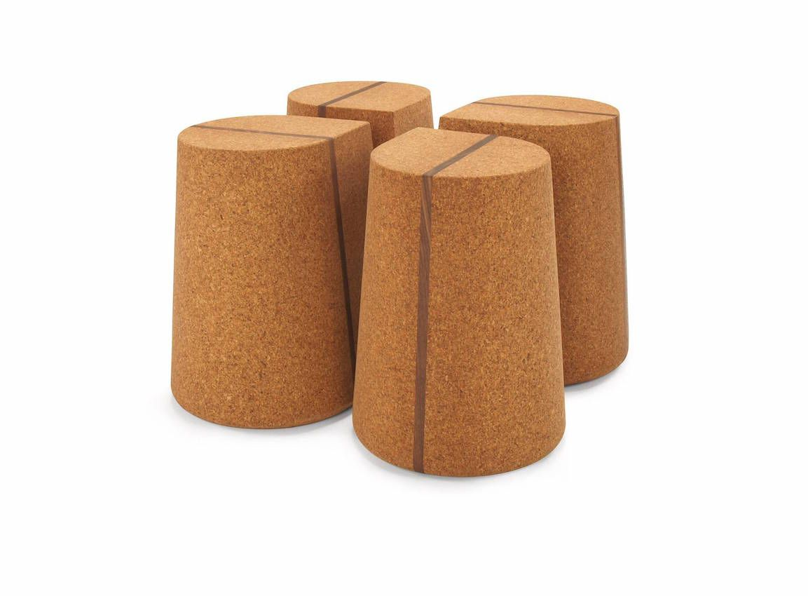 Corkdrop is a clover formation in solid cord with a walnut timber stripe.
