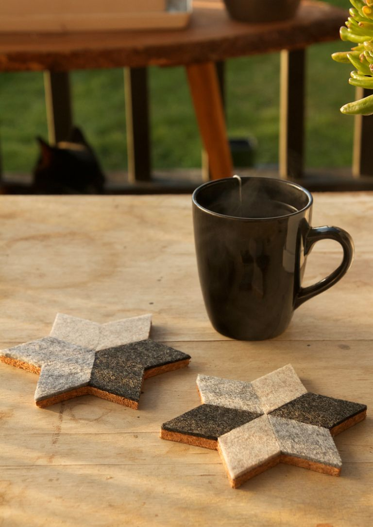 DIY Geometric Felt Coasters Design