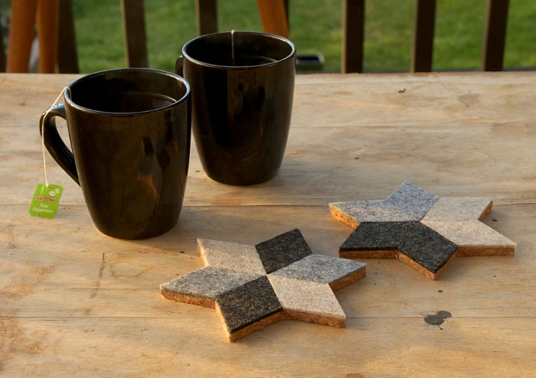 DIY Geometric Felt Coasters
