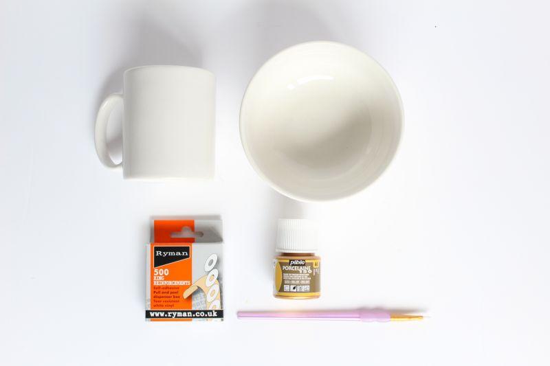DIY Gold Painted Crockery Supplies