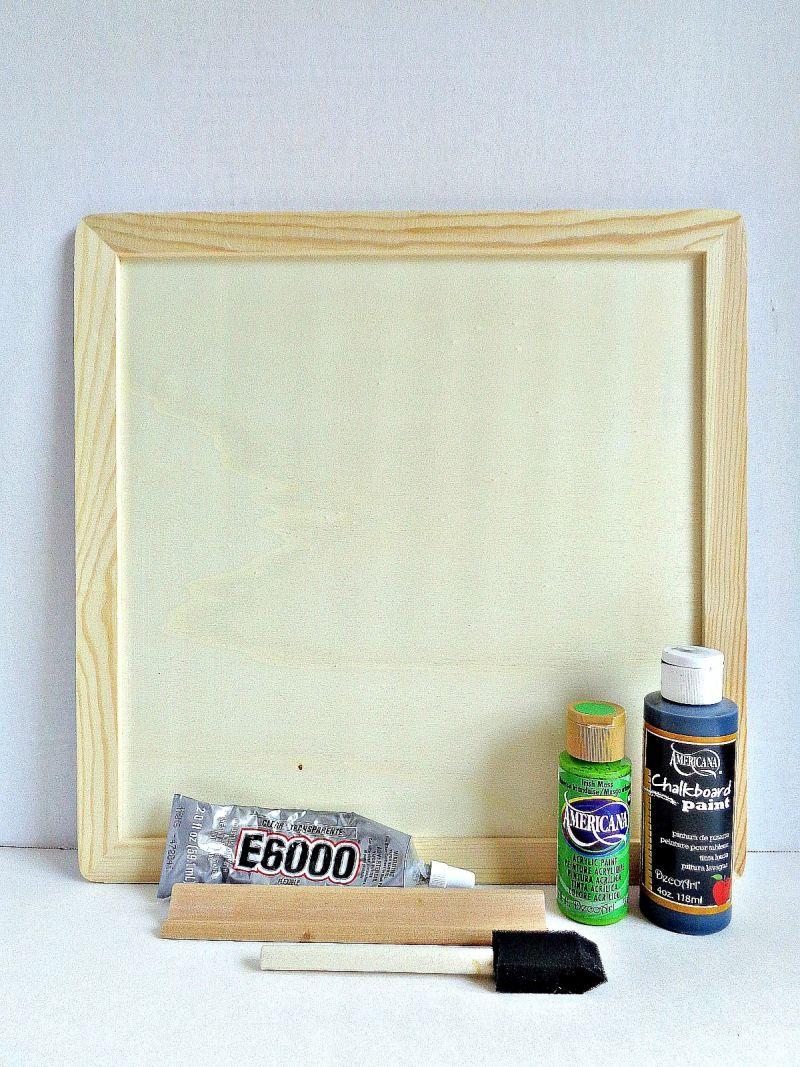 DIY Mini Chalkboard Wall Hanging Supplies
