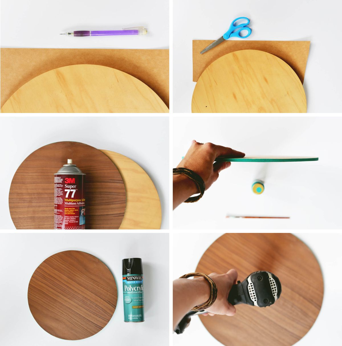 DIY Modern Wood Wall Clock instructions